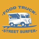 Food truck logo Stock Photography