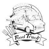 Food Truck Logo. Vector Graphic Royalty Free Stock Images