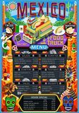 Food Truck Menu Street Food Mexican Festival Vector Poster. Fast food truck festival menu Mexican taco chili pepper burrito brochure street food poster design Royalty Free Stock Images