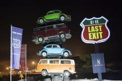 Food Truck Park in Dubai Stock Photo