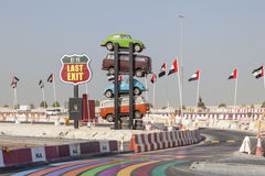 Food Truck Park in Dubai Royalty Free Stock Photography