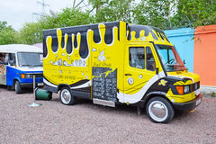 Food truck in the Parking lot Royalty Free Stock Photo