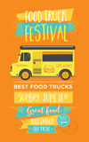 Food truck party invitation. Food menu template design. Food fly Stock Images