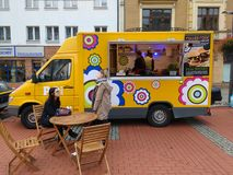 Food truck Poland Royalty Free Stock Photography