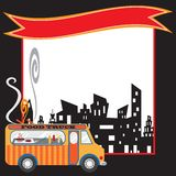 Food Truck Poster and banner Royalty Free Stock Photography