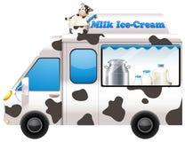 Food truck selling milk ice-cream Stock Image
