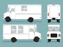 Food Truck Template. Illustrated food truck graphic with all views Royalty Free Stock Photos