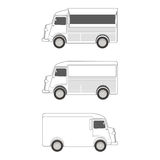 Food Truck  Template Royalty Free Stock Images