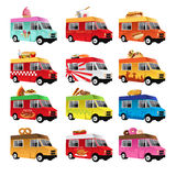 Food truck. A vector illustration of food truck icon designs Stock Photo