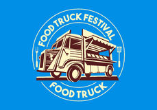Food Truck Vector Logo Delivery Service Business Royalty Free Stock Image
