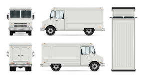 Free Food Truck Vector Template Royalty Free Stock Images - 92123189