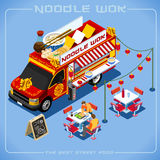 Food Truck 08 Vehicle Isometric stock image
