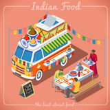 Food Truck 02 Vehicle Isometric royalty free stock photos