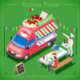 Food Truck 04 Vehicle Isometric stock images