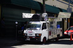 Food Truck with Wings Stock Images