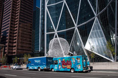 Food trucks in Calgary Stock Photography