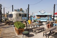 Food Trucks in Dubai Royalty Free Stock Image