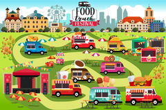 Food Trucks Festival Map. A vector illustration of Food Trucks Festival Map Stock Image