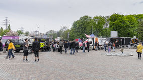 Food Trucks festival royalty free stock photos