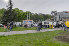 Food Trucks festival stock photo