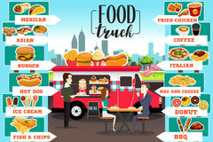 Food Trucks Infographics. A vector illustration of Food Trucks Infographics Royalty Free Stock Images