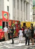 Food trucks in Montreal Stock Images