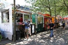 Food Trucks Portland Oregon royalty free stock photos