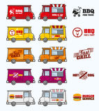 Food trucks vector set Stock Photo