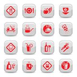 Food type icon set. Food Icon Set for web and mobile. All elements are grouped Royalty Free Stock Photo