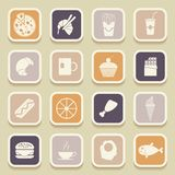 Food universal icons Royalty Free Stock Photography