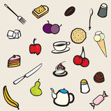Food and utensils Royalty Free Stock Photos