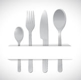 Food utensils illustration design Stock Photography