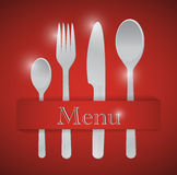 Food utensils menu illustration design Stock Images