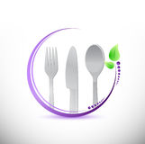 Food utensils restaurant sign illustration Royalty Free Stock Image