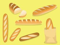 Food Various French Bread Vector File Format. Food Vector EPS10 File Format stock illustration