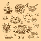 Food. Vector. Royalty Free Stock Images