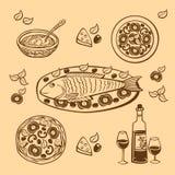 Food. Vector. Stock Photo