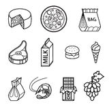 Food vector icon set Royalty Free Stock Image