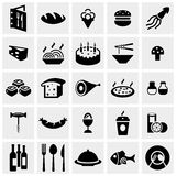 Food Vector Icon Set On Gray Stock Photos