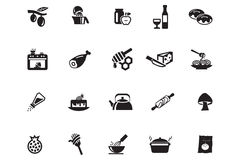 Food Vector Icons 10 Royalty Free Stock Photo