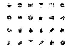 Food Vector Icons 1 Stock Image