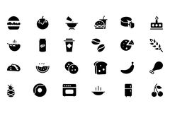 Food Vector Icons 3 Royalty Free Stock Images