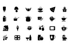 Food Vector Icons 9 Stock Images