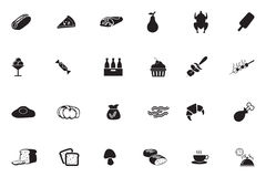 Food Vector Icons 7 Stock Images