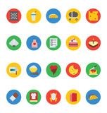 Food Vector Icons 15. These Food Icon Vectors will satisfy all your design hungers! Included in this pack are all kinds of delicious goodies and good eats and Royalty Free Stock Image