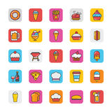 Food Vector Icons 2. This Food Vector Icons pack is perfect for any designer or developer that is working on a new restaurant website or something in the area of Stock Image