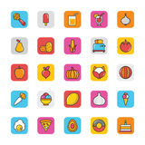 Food Vector Icons 5 Royalty Free Stock Image