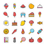 Food Vector Icons 3 Royalty Free Stock Photo