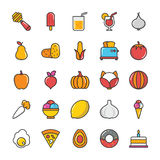 Food Vector Icons 5 Stock Photography