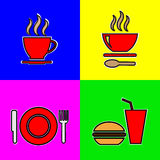 Food vector icons Stock Photos